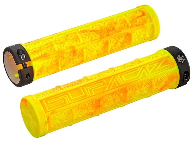 Supacaz Grizips MTB Griffe neon rot/neon gelb splash